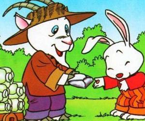 小白兔种白菜看图写话_小白兔种白菜_小学看图作文200字